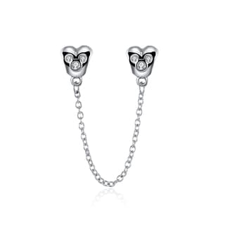 Sterling Silver Hearts Double Stopper Charm