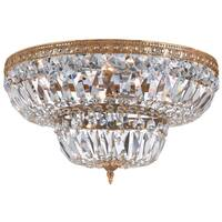 Crystorama Ceiling Mount Collection 6-light Olde Brass/Crystal Flush Mount