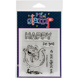 "Your Next Stamp Clear Stamps 3""X4""-So Happy"