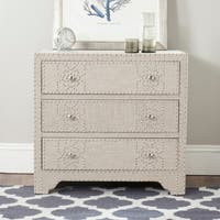 Safavieh Gordy Grey 3-drawer Chest - Silver Nailhead