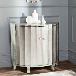 Safavieh Rutherford Demilune Silver Leaf Cabinet