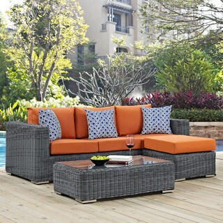 Summon 3-piece Outdoor Patio Sunbrella Sectional Set