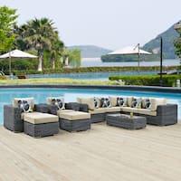 Summon 10-piece Outdoor Patio Sunbrella Sectional Set