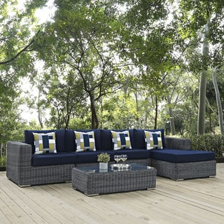 Summon 5-piece Outdoor Patio Sunbrella Sectional Set