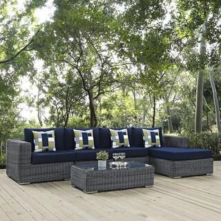 Summon 5-piece Outdoor Patio Sunbrella Sectional Set