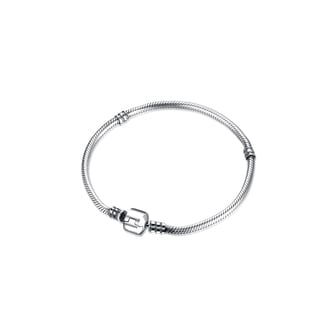 .925 Sterling Silver Classic Simple Size 17-20 Charm Bracelet