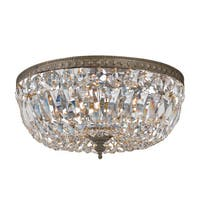 Crystorama Ceiling Mount Collection 3-light English Bronze/Crystal Flush Mount