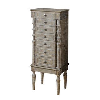 Acme Furniture Taline Weathered Oak Finish Wood Jewelry Armoire