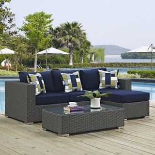 Sojourn 3-piece Outdoor Patio Sunbrella Sectional Set