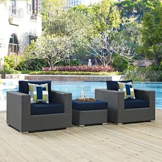 Sojourn 3-piece Outdoor Patio Sunbrella Sectional Set