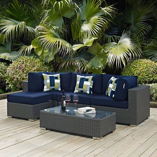 Sojourn 5-piece Outdoor Patio Sunbrella Sectional Set