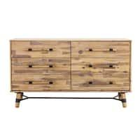 Aurelle Home 6 Drawer Rustic Low Dresser