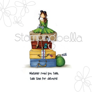 """Stamping Bella Cling Stamp 6.5""""X4.5""""-Uptown Girl Molly Makes A Detour"""