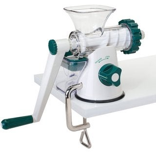Lexington Modern Off-white Stainless Steel Manual Leafy Green and Wheatgrass Juicer