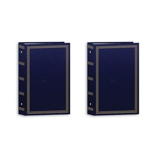 Pioneer 3-Ring Photo Albums 4 x 6 Pocket for 504 Photos 2 Pack - STC504-NABX2 (Navy Blue) (2 Pack)