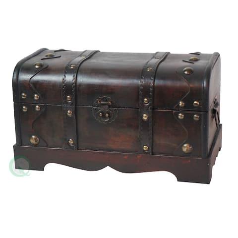 Small Pirate Style Wooden Treasure Chest - Black