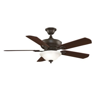 Camhaven - 52 inch - Oil-Rubbed Bronze with Cherry/Walnut Reversible Blades and Light Kit
