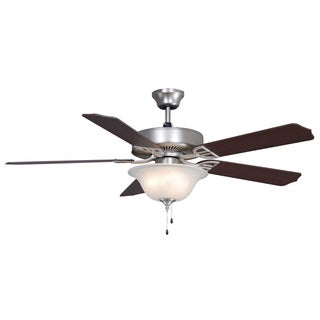 Aire Décor - 52 inch - Satin Nickel with Glass Bowl Light Kit
