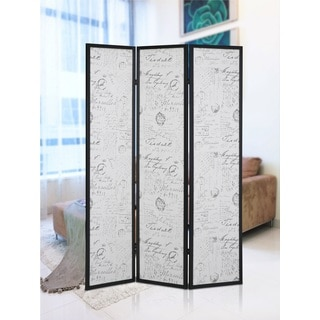 Botticelli 3 Panels Screen Room Divider with English Script Print