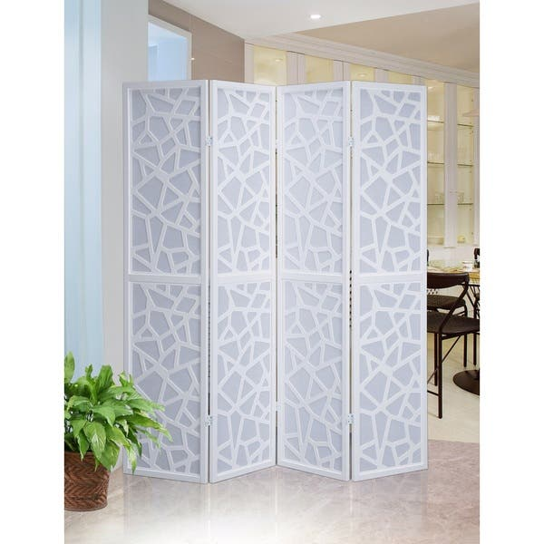 Shop Giyano 4 Panel Screen Room Divider On Sale Overstock 14430758 Black