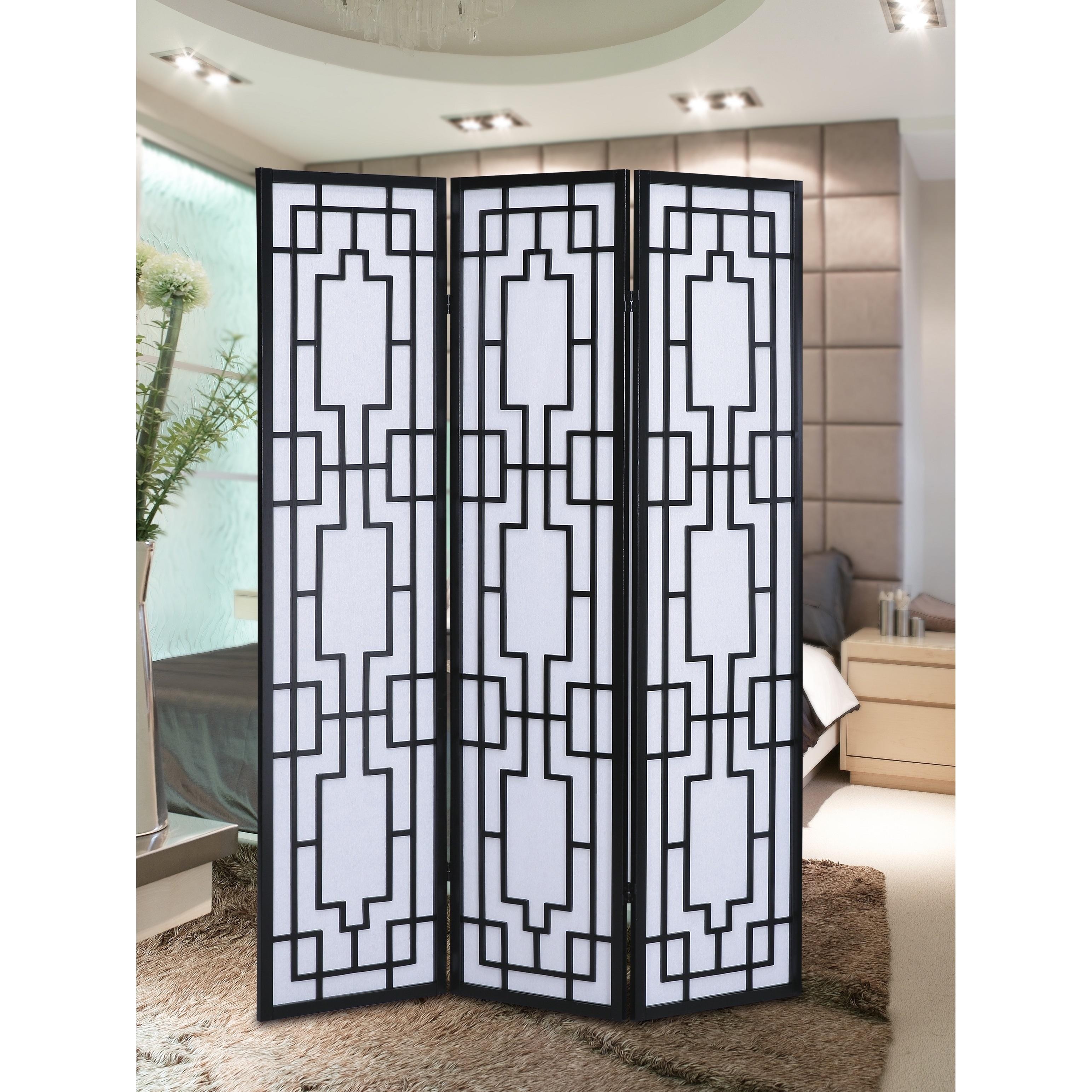 Sudoku 3 Panel Room Divider Screen Overstock 14430759