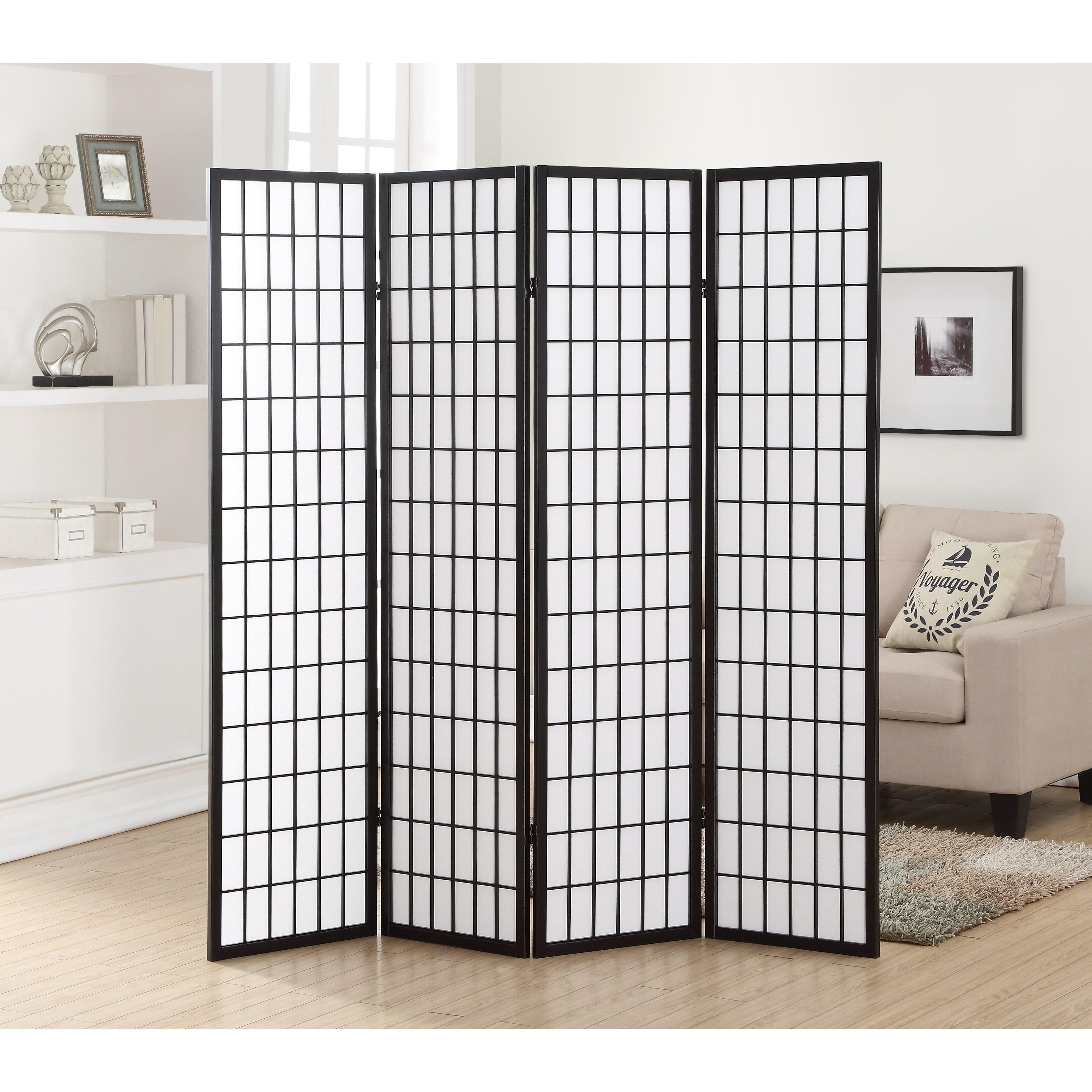 Hoceima Oriental Shoji 4 Panel Room Divider