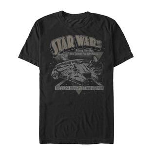 Star Wars Millennium Falcon 'Fast Enough For You Old Man' Extended Sizes Graphic T-Shirt|https://ak1.ostkcdn.com/images/products/14430764/P20997071.jpg?impolicy=medium