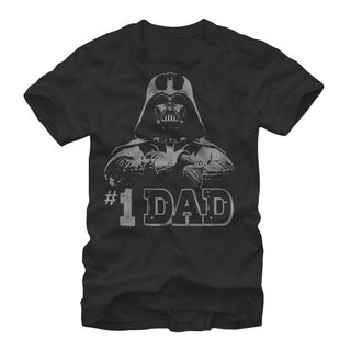 Star Wars Darth Vader Number One #1 Dad Father Graphic Tee (Extended Sizes)
