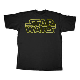 Star Wars Simplified Yellow and Black Classic Logo Graphic Tee Extended Sizes