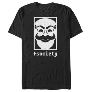 'Mr Robot' F Society Mask Graphic Tee Extended Sizes