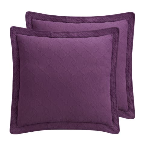 Williamsburg Richmond Purple Euro Sham