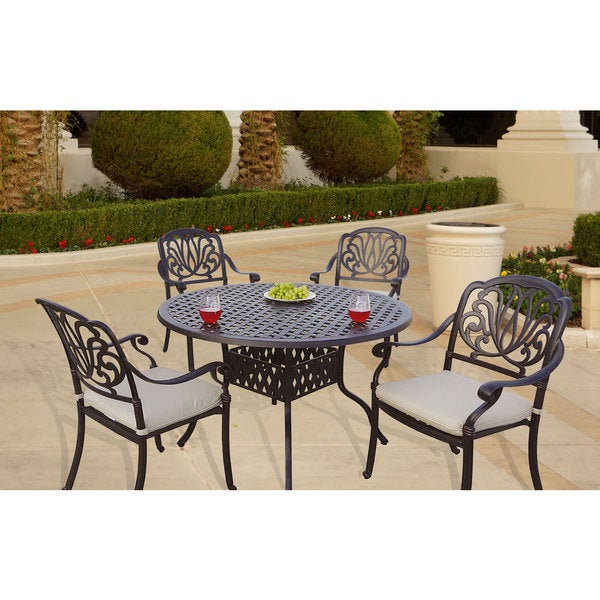 48 Inch Wide Rectangular Dining Table: Shop Sicily 5-Piece Dining Set With Seat Cushions, 48 Inch