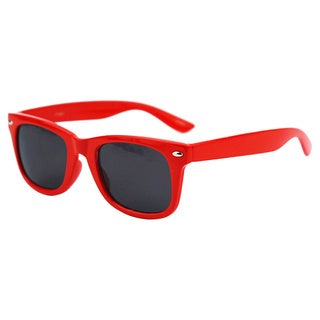 Pop Fashionwear Children's P1301 Red Plastic Color-frame Sunglasses