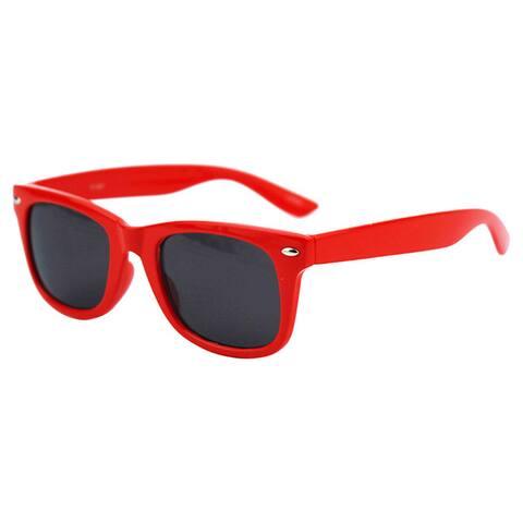 Pop Fashionwear Children's P1301 Red Plastic Color-frame Sunglasses