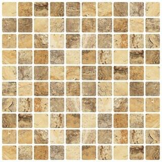 "Avalon Sandstorm 12"" x 12"" Self Adhesive Backsplash Peel & Stick Vinyl Wall Tile-3 Tiles/3 SQ Ft"