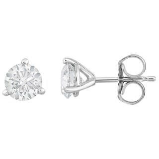 Noray Designs IGI Certified 14K White Gold Diamond (1 Ct) Stud Earrings