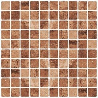 """Avalon Tuscany 12"""" x 12"""" Self Adhesive Backsplash Peel & Stick Vinyl Wall Tile-3 Tiles/3 SQ Ft"""