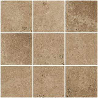 "Avalon Brown 12"" x 12"" Self Adhesive Backsplash Peel & Stick Vinyl Wall Tile-3 Tiles/3 SQ Ft"
