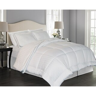 kathy ireland Home Rayon from Bamboo Pinstripe Down Alternative Comforter