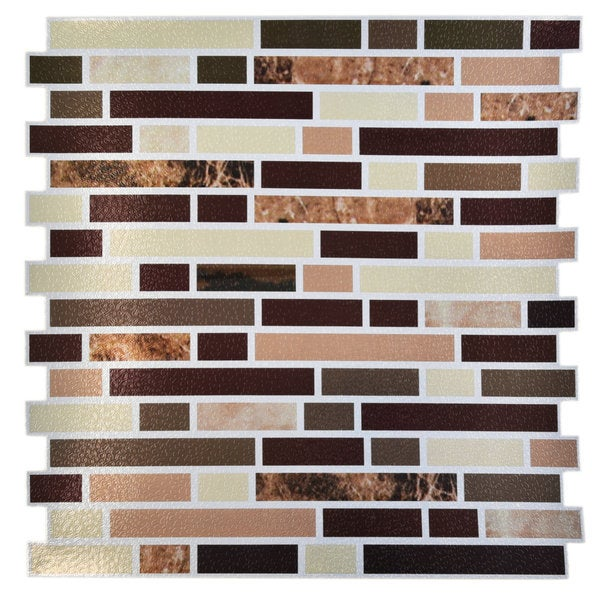 "Up To 45 Off Peel Stick Kitchen Backsplash Tile At Walmart: Shop Avalon Copper 12"" X 12"" Self Adhesive Backsplash Peel"