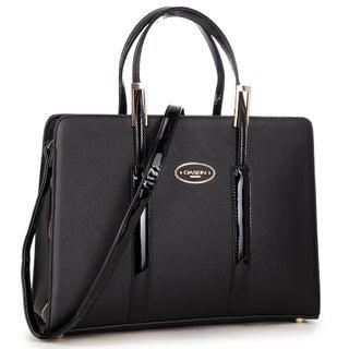 Dasein Classic Briefcase Handbag (Option: Black)