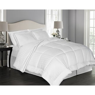 Elle 300 Thread Count Rayon from Bamboo Pinstripe Down Alternative Comforter