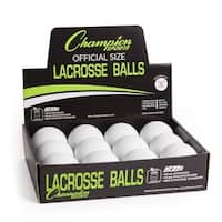 Champion Sports Official Lacrosse Balls - 24 Pack (White)