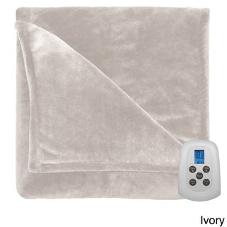 Serta Silky Plush Heated Electric Warming Blanket with a Programmable Digital Controller (3 options available)