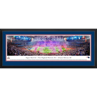 2017 Super Bowl Champions, New England Patriots, Blakeway Panoramas Framed NFL Print