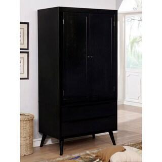 Furniture of America Corrine Mid-Century Modern 2-drawer Double-door Bedroom Armoire