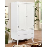 Furniture of America Corrine Mid-Century Modern 2-drawer Double-door Bedroom Armoire