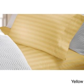 Elle 300 Thread Count Cotton Damask Stripe Sheet Set