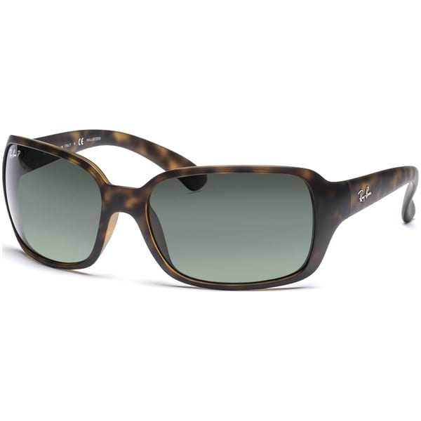 a1836e758ce Ray-Ban RB4068 894 58 Tortoise Frame Polarized Green 60mm Lens Sunglasses