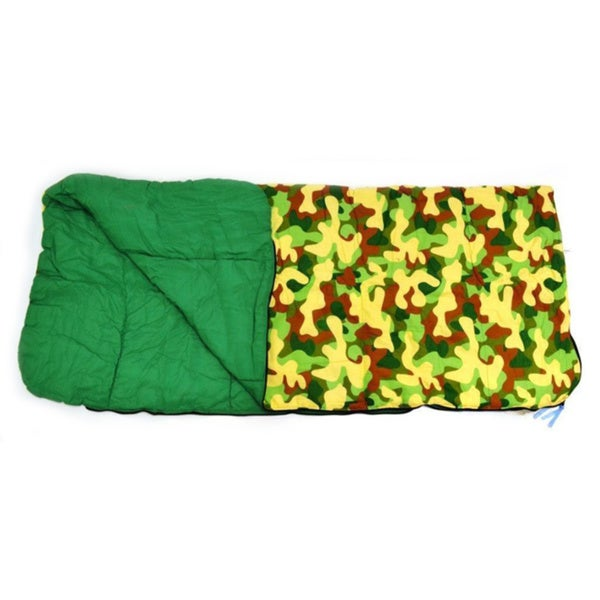 Big Kids Slumber Bag Camouflage Green